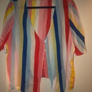 Rainbow tie summer top
